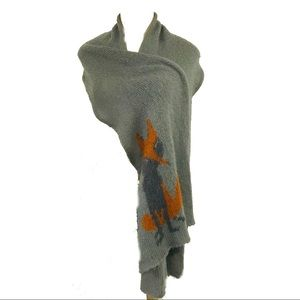 Wooden Ships Anthropologie mohair wool fox scarf